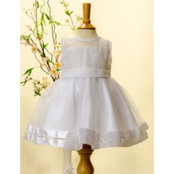 Sevva White Lace Honey Christening /Flower Girl Dress