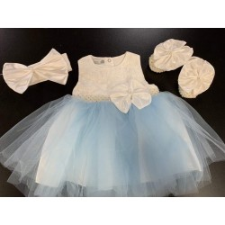 Baby Girl Special Occasion Dress, Shoes & Headband Style 05003-S