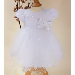 White Christening/Baptism Baby Girl Dress Style WILLOW
