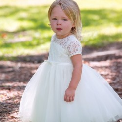 Sarah Louise Ivory Christening Dress Style 070102-1