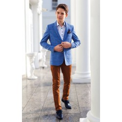Blue Checkered Confirmation/Special Occasion Jacket Style PESARA 4