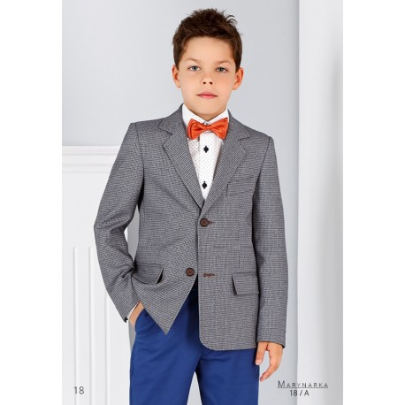 Grey First Holy Communion/Special Occasion Checkered Jacket Style MARCO