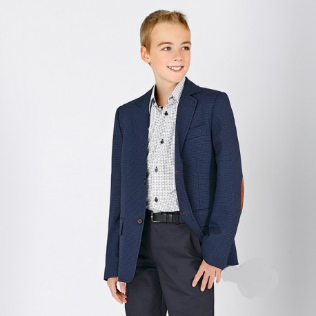 Navy Checkered First Holy Communion/Special Occasion Jacket Style SEAN