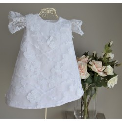 White Christening Baby Girl Dress Style GAYA