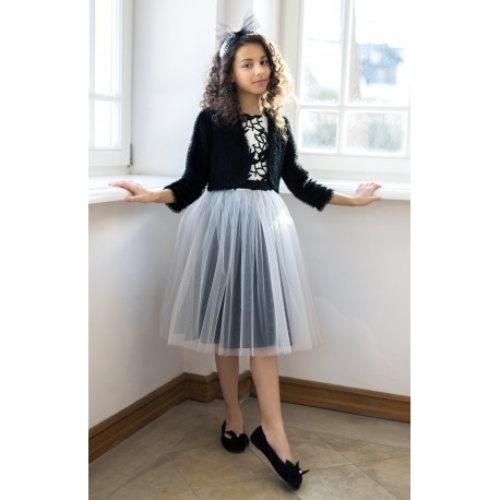 Ivory/Black Confirmation/Special Occasion Dress Style 23/J/18