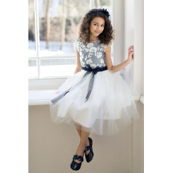 Navy/Ivory Confirmation/Special Occasion Dress Style 11/J/18