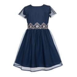 Navy/Gold Confirmation/Special Occasion Dress Style 13/J/18
