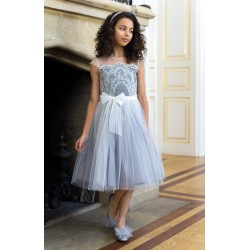 Ivory/Grey Confirmation/Special Occasion Dress Style 4/J/18