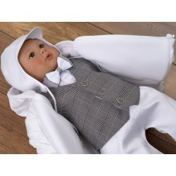 6 PCS CHRISTENING SUIT&JACKET VICTOR GREY