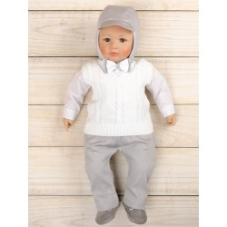 5 Pcs Christening Suit& Jumper Slavko