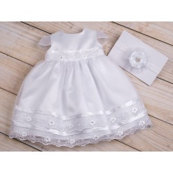 Beautiful Christening Dress&Headband Julia
