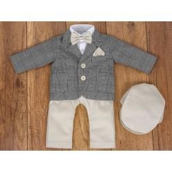 5 Pcs Christening Suit& Jacket Gregory