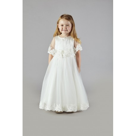 Ivory Flower Girl/Special Occasion Dress with Cape by Sevva Style CLAIRE