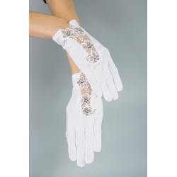 Mat Satin White First Holy Communion Gloves Style K-29