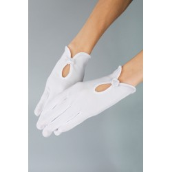 Mat Satin White First Holy Communion Gloves Style K-20