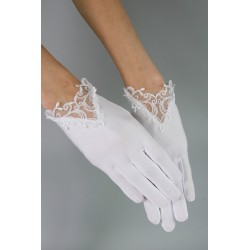 White Communion Gloves K-30