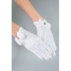 White Communion Gloves K-79