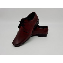 Boys Burgundy Leather First Holy Communion/Special Occasion Shoes Style 060