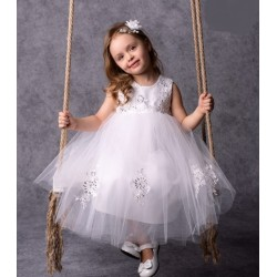 White Baby Girl Christening/Special Occasion Dress Style ROYAL