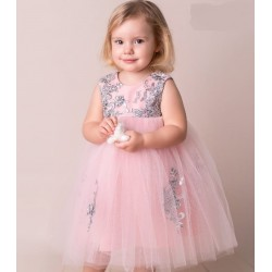 Peach/Silver Baby Girl Special Occasion Dress Style ROYAL BIS