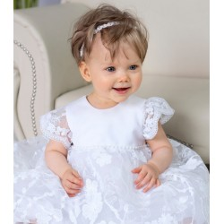 White Christening/Baptism Baby Girl Dress Style NINA