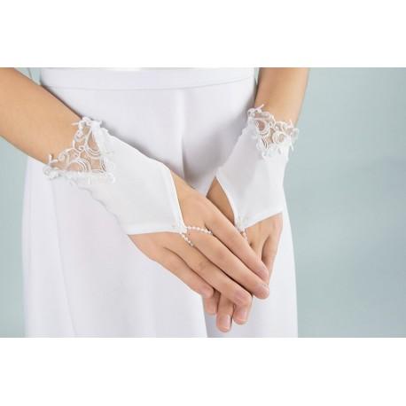 White Communion Gloves K-56