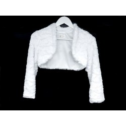 Elegant Fur First Holy Communion Bolero Style CB15