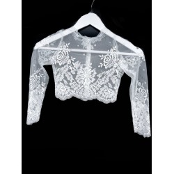 White Lace First Holy Communion Bolero Style CB16