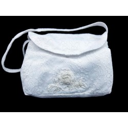 Lace White First Holy Communion Bag Style BAG 12
