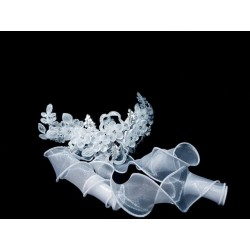 White First Holy Communion Headdress Style CH120