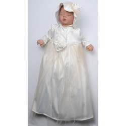 Handmade Christening Gown Adria in Ivory