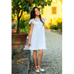 Blue/White Confirmation/Special Occasion Dress Style 32B/SM/19
