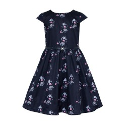 Navy Floral Confirmation/Special Occasion Dress Style 16B/J/18