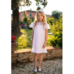 Pink/White Confirmation/Special Occasion Dress Style 32A/SM/19