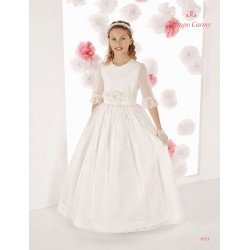 Handmade Elegant Ivory First Holy Communion Dress Style 9721