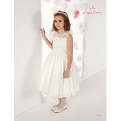 Handmade Ivory First Holy Communion Ballerina Length Dress Style 9720