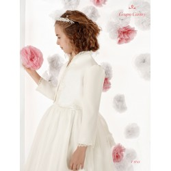 Handmade Ivory First Holy Communion/Special Occasion Bolero Style T9741