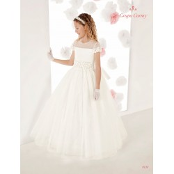 Handmade Elegant Ivory First Holy Communion Dress Style 9718
