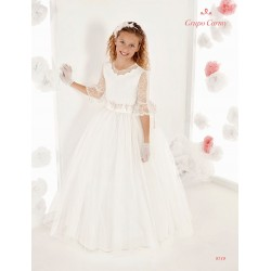 Handmade Elegant Ivory First Holy Communion Dress Style 9719