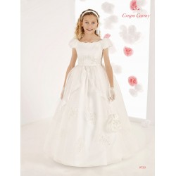 Handmade Elegant Ivory First Holy Communion Dress Style 9723