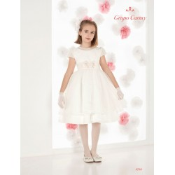 Handmade Ivory First Holy Communion Ballerina Length Dress Style 9700