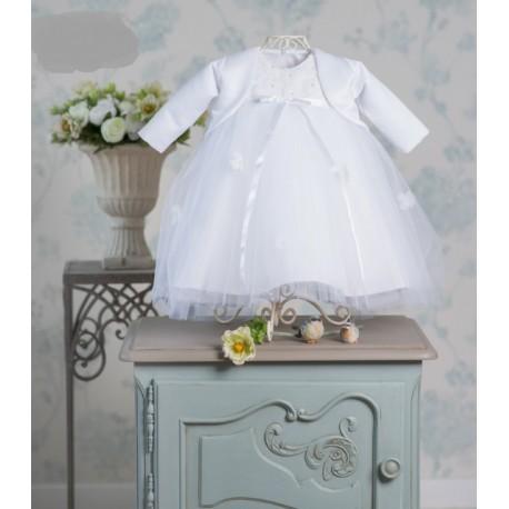 Handmade White Christening Bolero Style CARINA BOLERO