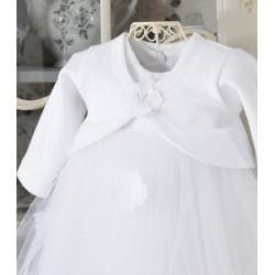 Handmade White Christening Bolero Style BOLERO 03