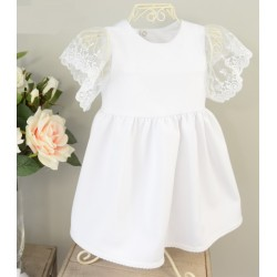 Handmade White Baby Girl Christening Dress Style MARCELINE