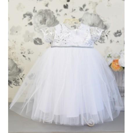 White Handmade Baby Girl Christening Dress Style TESSA