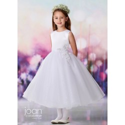 Joan Calabrese White Tea-Length First Holy Communion Dress Style 119380