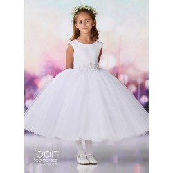 Joan Calabrese White Tea-Length First Holy Communion Dress Style 119383