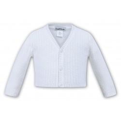 Sarah Louise White Baby Boy Christening Cardigan Style 006791