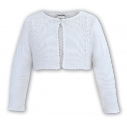SARAH LOUISE WHITE BABY GIRL CHRISTENING CARDIGAN STYLE 006700