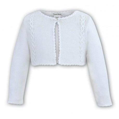 SARAH LOUISE WHITE BABY GIRL CHRISTENING CARDIGAN STYLE 006700